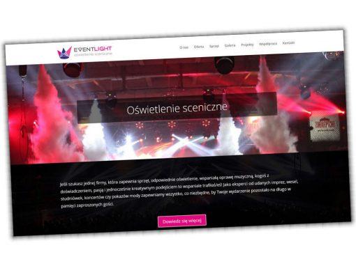 Strona internetowa EventLight z Warszawy