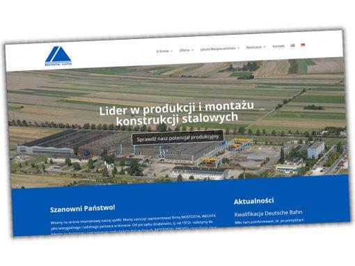 Strona internetowa Mostostal Słupca