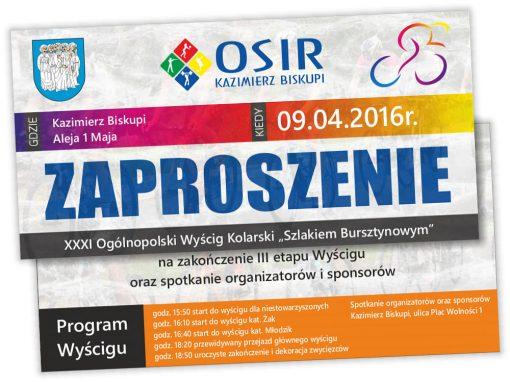 Zaproszenie na Wyścig Kolarski