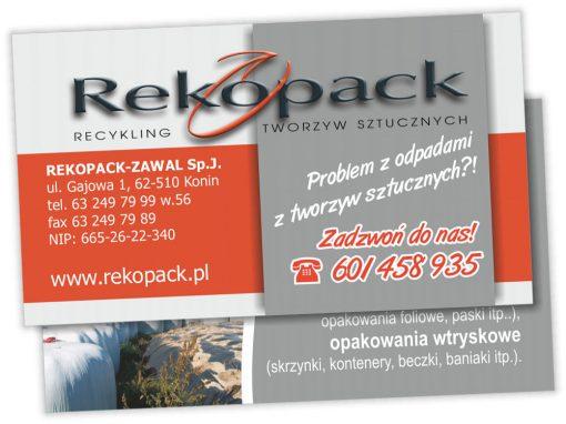 Wizytówki Rekopack-Zawal Sp.J.