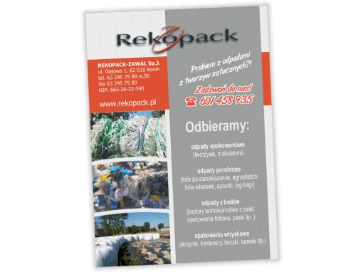 Ulotki reklamowe A6 Rekopack