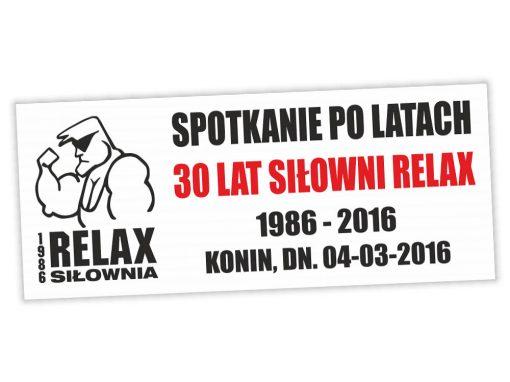Baner okolicznościowy 30 lecie Siłowni Relax