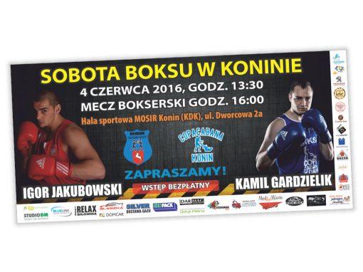 Bilboard reklamowy Sobota boksu w Koninie