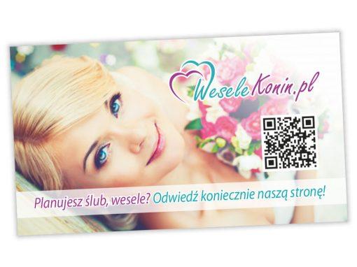 Wizytówki reklamowa WeseleKonin.pl