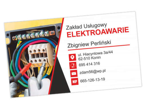 Wizytówki dla firmy ELEKTROAWARIE