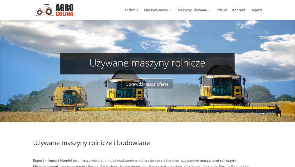 Srona internetowa AgroGolina.pl