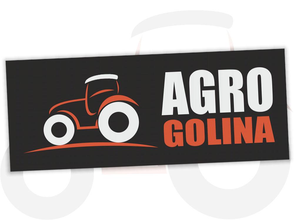 Projekt graficzny logo dla AgroGolina.pl na ciemnym tle