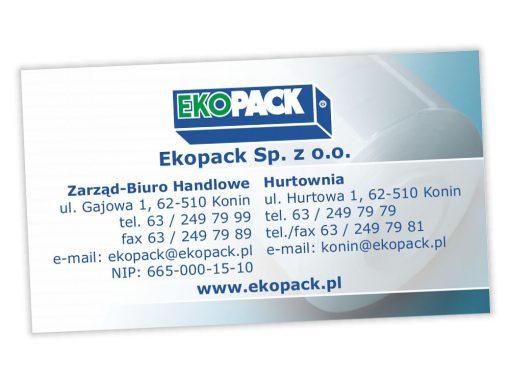 Wizytówki Ekopack Sp. z o.o.