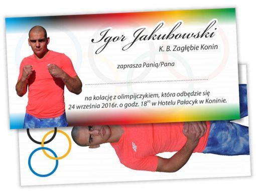 """Zaproszenie DL """"Kolacja z olimpijczykiem"""""""