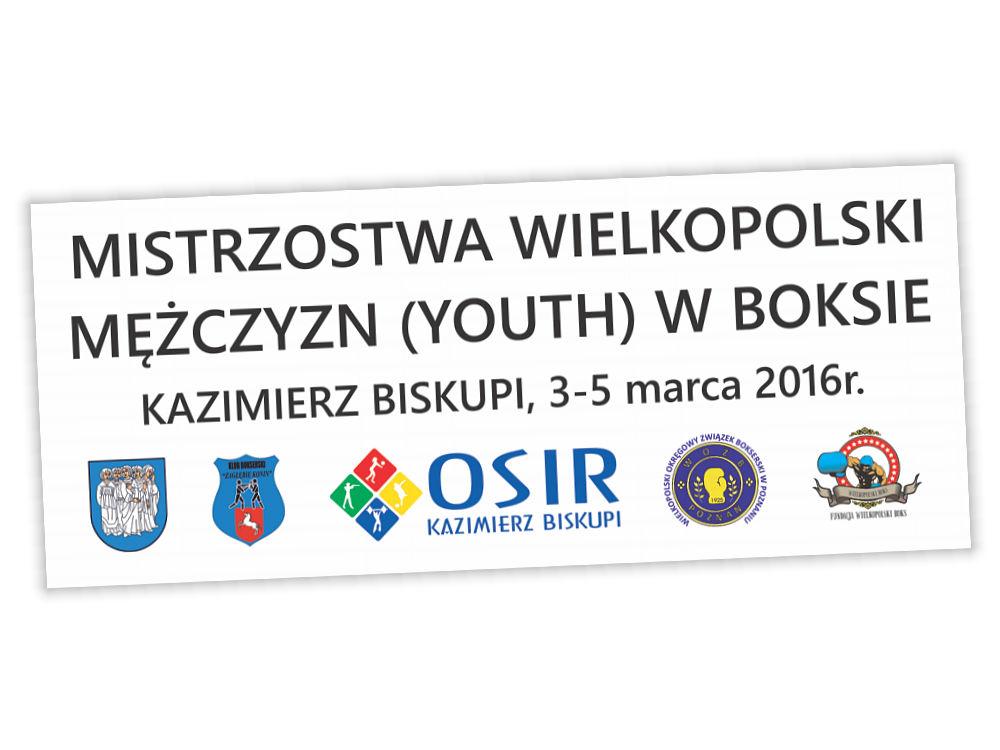 Baner Młodzieżowych Mistrzostw Polski w Boksie