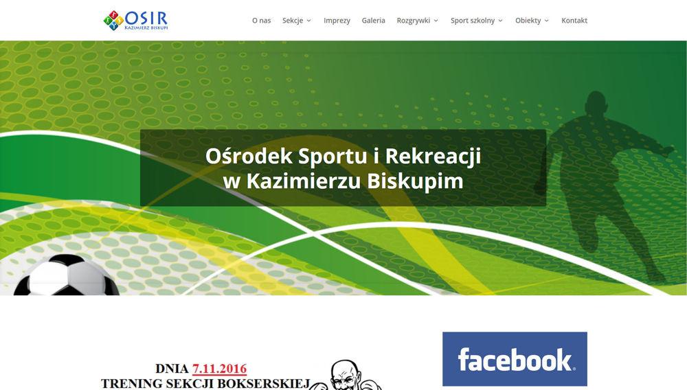 Strona internetowa OSiR Kazimierz Biskupii
