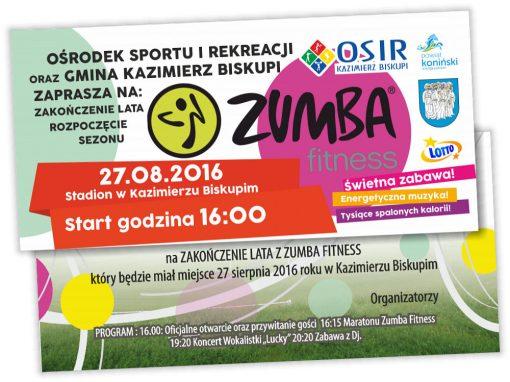 Zaproszenie DL Zumba Kazimierz Biskupi