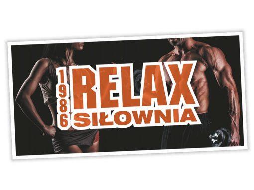 Baner reklamowy Siłownia Relax