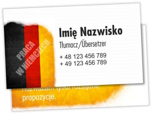 Wizytówki Tłumacz Polsko-Niemiecki