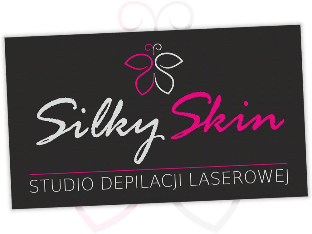 Logo SilkySkin - ciemne tło