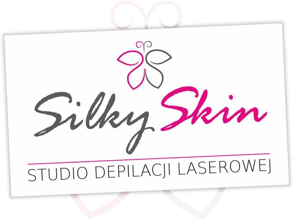 Logo SilkySkin - jasne tło