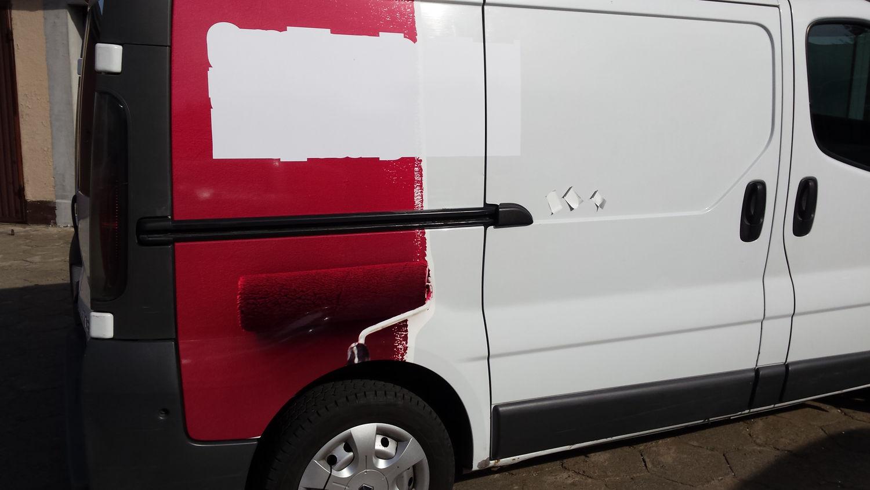 Oklejanie samochodu firmy budowlanej z Kleczewa