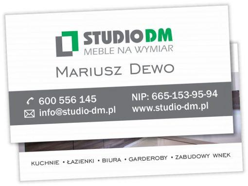 Wizytówki dla StudioDM Konin