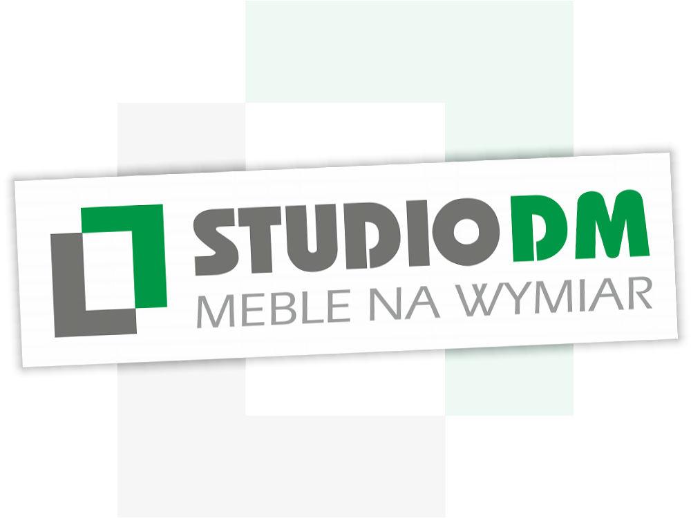 Projekt logo dla StudioDM - jasne tło