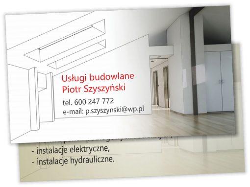 Wizytówki dla firmy budowlanej