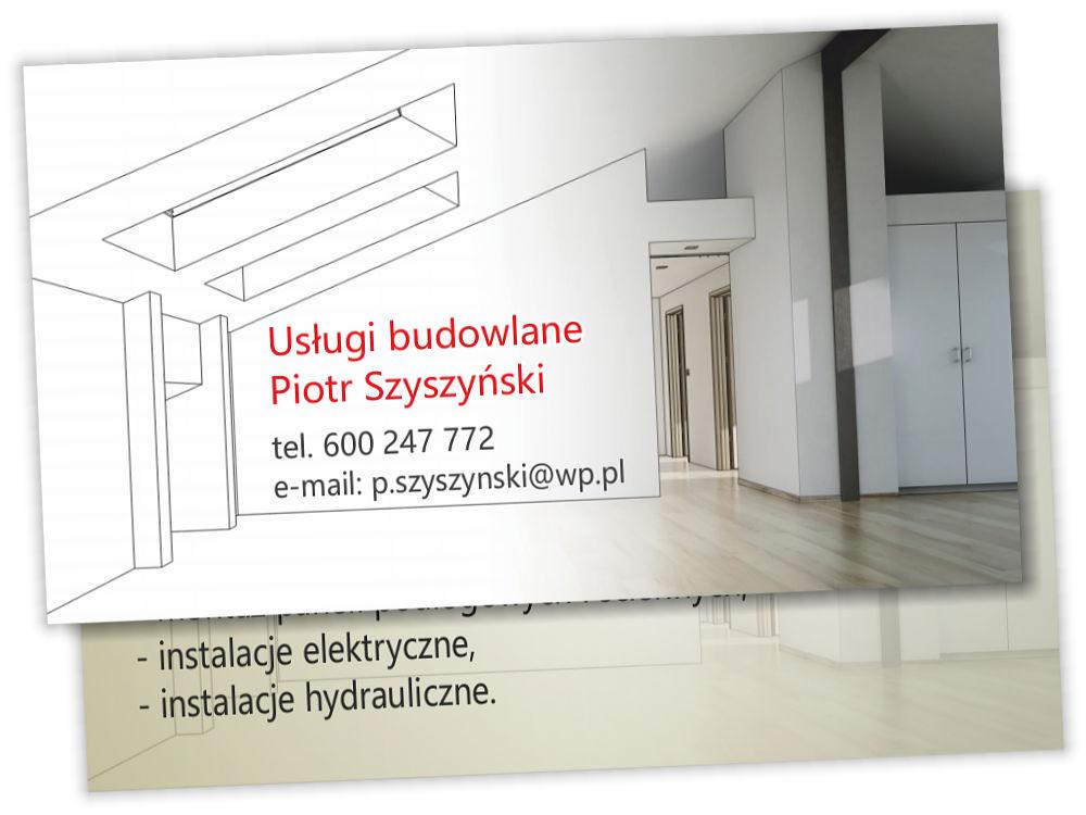 Wizytówki Usługi budowlane