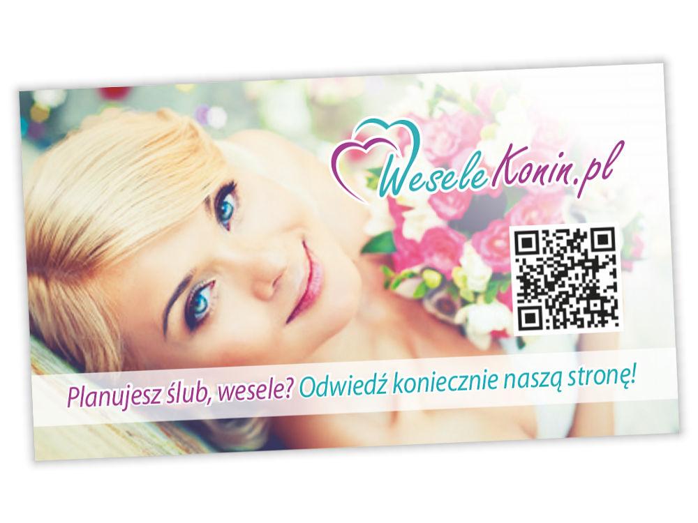 Wisytówka reklamowa WeseleKonin.pl