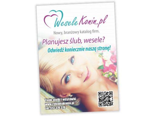 Ulotki reklamowe A6 WeseleKonin.pl