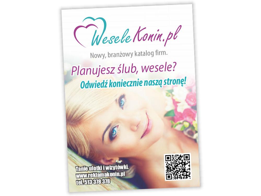 Ulotka reklamowa A6 WeseleKonin.pl
