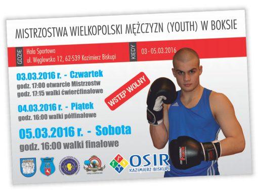 Plakaty Mistrzostw Wielkopolski w Boksie