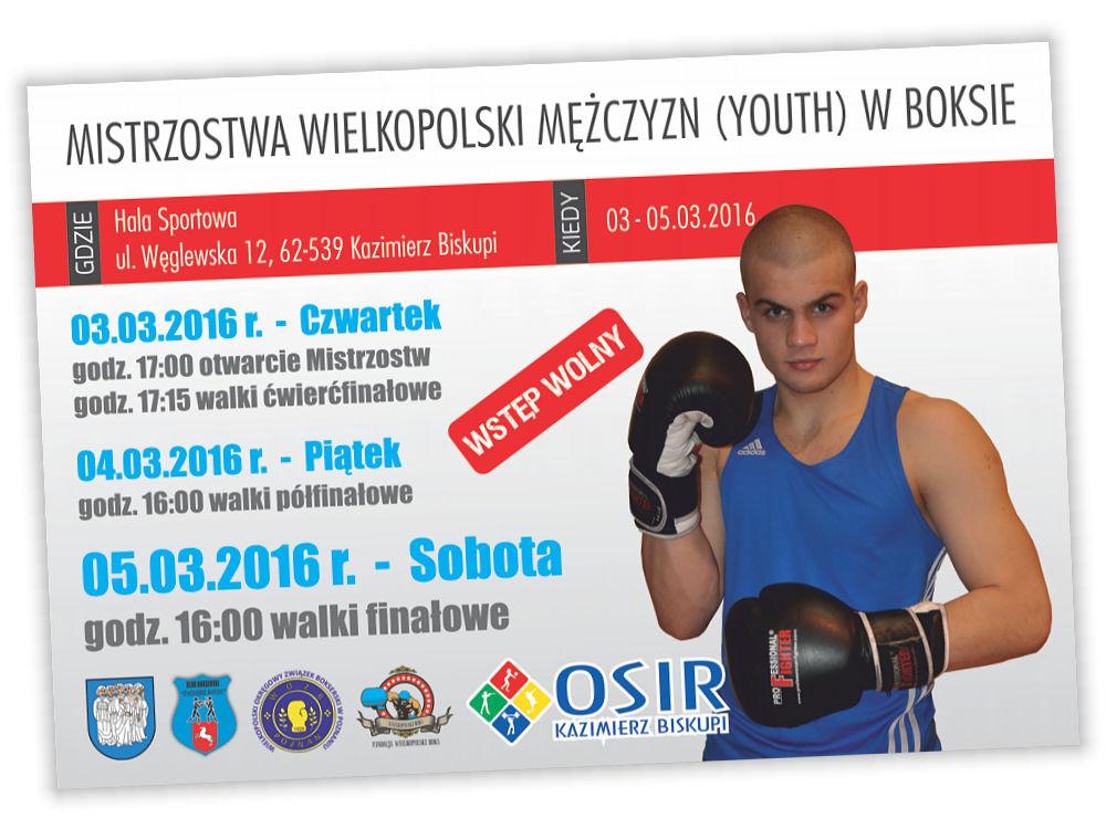 Projekt plakatu Mistrzostw Wielkopolski w Boksie