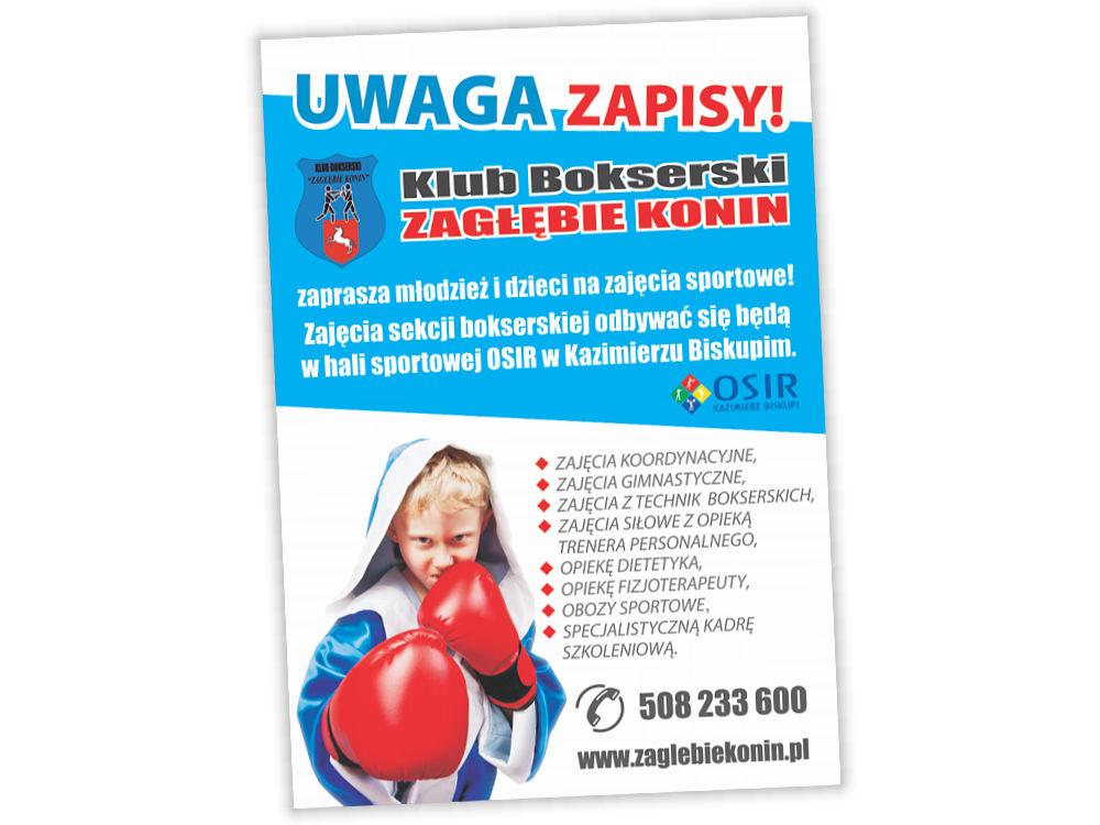 Ulotki reklamowe A6 Zagłębie Konin- Zapisy