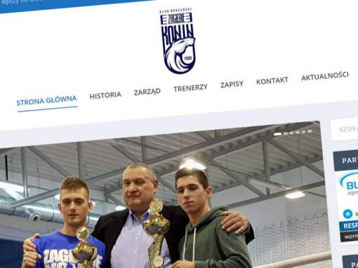 Strona internetowa KB Zagłębie Konin